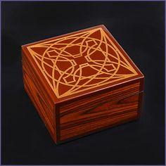 Frank Lloyd Wright Luxfer Prism Wood Box