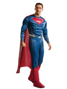 Check out Men's Batman V Superman- Deluxe Superman Costume - TV & Movie Costumes from Costume Super Center