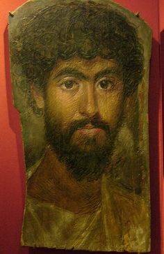 fayum portraits | Man with High Coloring , Egypt, 161-180 A.D., encaustic on wood.