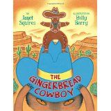 The Gingerbread Cowboy can run from the rancher, he can dash past the javelinas, and he can giddyup right by the cattle grazing on the mesa. But what happens when he meets a coyote sleeping in the sun?  Janet Squires and Holly Berry retell this classic tale with a Wild Western flair, filled with rodeo-romping fun.