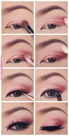 9 Fun Colorful Eyeshadow Tutorials For Makeup Lovers Makeup diy makeup tutorials for beginners - Makeup Diy Tutorials Eye Makeup Glitter, Pink Eye Makeup, Pink Eyeshadow, Colorful Eyeshadow, Smokey Eye Makeup, Makeup Eyeshadow, Colorful Makeup, Makeup Brushes, Smoky Eye