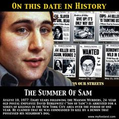 The Son of Sam was captured on this date. Find out more interesting fun facts at: http://www.myfivebest.com