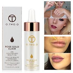 O.TWO.O 24k Rose Gold Elixir Skin Make Up Oil Infused Beauty Oil Essential Oil Before Primer Foundation Moisturizing Face Oil >>> Check out the image by visiting the link. (This is an affiliate link) #Makeup
