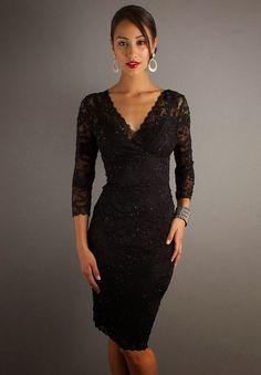 Black Long Sleeve Lace Wedding Dress