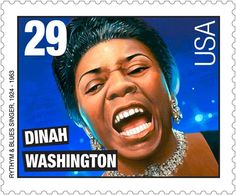 US Stamp 1993 - Rock & Roll Rhythm & blues Aug. Dinah Washington, American blues singer, was born.