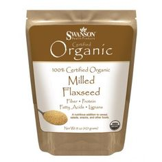 Buy Swanson Certified Organic Milled Flaxseed Nutritional Supplement for sale in Online supplement store megavitamins in Melbourne, Sydney & across Australia. Great Lakes Gelatin, Food Net, Gm Diet, Essential Fatty Acids, Nutritional Supplements, Calorie Diet, Saturated Fat, Organic Recipes, Flaxseed