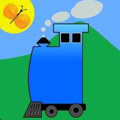 The Talking Train app is great for motivating kids to draw...