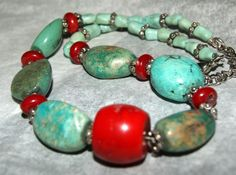 OLD ROYSTON NUGGET Necklace Coral Nickel c1980 by AuctionHunter, $100.00