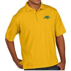 Antigua Men's North Dakota State Bison Yellow Pique Xtra-Lite Polo, Size: Medium, Team