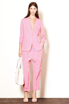 Elizabeth and James Spring 2014 Ready-to-Wear Collection Slideshow on Style.com bubblegum pink suit
