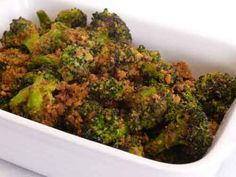 great vegetarian Indian dishes - broccoli, brussel sprouts, peppers with peanuts