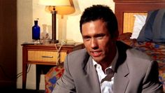 """""""If you can guarantee security for the Nembe Oil Field; no fires, no explosions, nobody falls into a swamp and gets eaten by an alligator."""" [Michael Westen]  """"You mean crocodile."""" [Boris]  """"Yes, I mean, crocodile. We agreed?"""" [Michael Westen]   Pictured: Michael Westen (Jeffrey Donovan)"""
