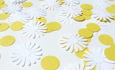 Daisy Table Confetti party supply: He Loves Me Confetti by Kiwi Tini Creations