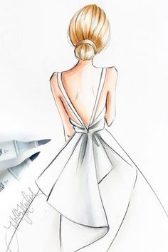 27 Bridal Illustrations From Popular Dress Designers Bridal illust. - 27 Bridal Illustrations From Popular Dress Designers Bridal illust… – 27 Bridal - Dress Design Drawing, Dress Design Sketches, Girl Drawing Sketches, Girly Drawings, Fashion Design Drawings, Dress Drawing, Cool Art Drawings, Drawing Ideas, Drawing Faces