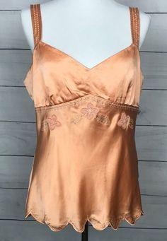 6396a323874192 Antonio Melani new nwt Coral silk sleeveless Top Blouse Size Large L   AntonioMelani  TankCami