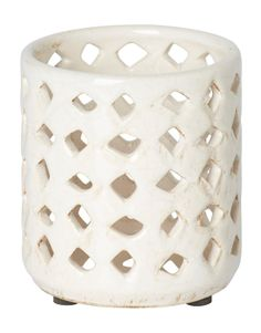 GLAZE SMALL lantern white | T-light standing | Candles and Lanterns | Interior | INDISKA Shop Online