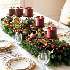 gorgeous christmas tables | beautiful! | Christmas Table