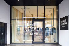 Max Lamb surrounds Opening Ceremony boutique with latex curtains _ This is a bloody clever bit of small retail design!