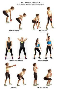 Kettlebell Workout Gesundheit Von Frauen 25 Minuten Kettlebell Training Workout Fitness Workouts