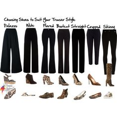 Choosing shoes to suit your trouser style by imogenl on Polyvore featuring Alexander McQueen, T By Alexander Wang, STELLA McCARTNEY, Roberto Cavalli, Givenchy, Chloé, Manolo Blahnik, Brian Atwood, Marc Jacobs and Giuseppe Zanotti