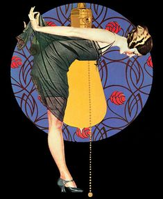 Illustration by Clarence Coles Phillips – American artist, magazine and advertising illustrator closely associated with Life magazine. Art Deco Illustration, Illustrations Vintage, Watercolor Illustration, Art Vintage, Vintage Prints, Vintage Ads, Vintage Posters, Art Quotidien, Moda Art Deco