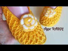 Örgü Patik Yapımı / Baklava modeli patik / Çeyizlik patik #kecetabanpatik #örgüpatikbabet - YouTube Crochet Slipper Pattern, Crochet Shoes, Crochet Slippers, Baby Patterns, Knitting Patterns, Sewing Patterns, Crochet Patterns, Crochet Baby, Knit Crochet