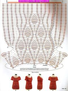 Fabulous Crochet a Little Black Crochet Dress Ideas. Georgeous Crochet a Little Black Crochet Dress Ideas. Pull Crochet, Gilet Crochet, Mode Crochet, Crochet Blouse, Crochet Lace, Crochet Stitches, Crochet Tops, Crochet Summer, Knitting Patterns