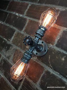 Edison Sconce Lamp Industrial Lighting by newwineoldbottles