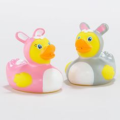 PRECIOUS. Liam loves his rubber duckies! He would love an Easter bunny in his tub! @Cost Plus World Market
