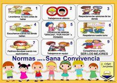 Normas de convivencia en el aula + imágenes para imprimir. | Para niños