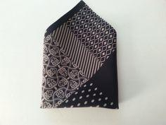 Mixed Media Silk Twill Pocket Square by HandsomeJimmy on Etsy