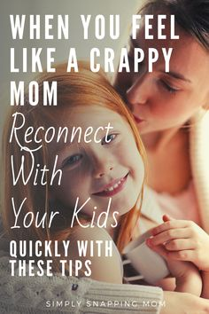 Reconnecting with Your Kids When You Feel Like a Crappy Mom - - ADHD Tips for parents when you need some extra help! The Effective Pictures We Offer You About kids - When You Feel Lost, How Are You Feeling, Parenting Teens, Parenting Advice, Bad Mom, Tired Mom, Quotes About Motherhood, Mom Advice, Raising Kids