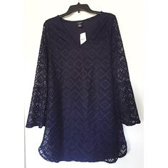 NWT. Long sleeve navy crochet dress NWT. Long sleeve navy crochet dress. See through sleeves, dress has an underlining, v-neck. Sorry, no trades. Like the item but not the price, feel free to make me a reasonable offer using the offer button below. Rue 21 Dresses Long Sleeve