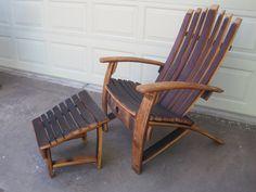 Wine Barrel Adirondack Chair. $495.00, via Etsy.