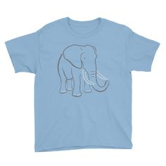 Youth Boy's Elephant Type Figure T-Shirt