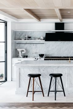Take a tour of this practically perfect beachside villa in Australia whose sophisticated style belies its relaxed location.