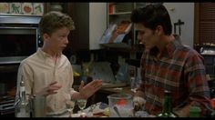 "Ted advising Jake in ""Sixteen Candles."""