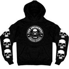 2nd Amendment Hoody with Skull