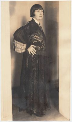 1920 photo of Mabel Dodge Luhan with Black Lace Dress, courtesy of Yale Library