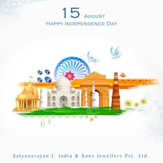 Our salutation to our great republic on the occasion of ____ Happy Independence Day India, Republic Day, Lets Celebrate, Sons, Jewels, Freedom, Liberty, Jewelery, Jewelry