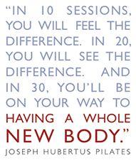 Joseph Pilates Quote   Pilates to the Pointe BLOG #pilates #motivation #fitness