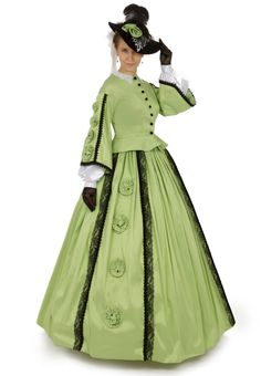 Margaret Civil War Victorian Styled Gown By Recollections