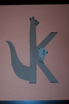 The Princess and the Tot: Letter Crafts - Uppercase & Lowercase K is for Kangaroo