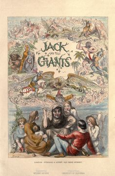 Richard Doyle for The story of Jack and the giants. #illustration #children    This book and image are in the public domain. See the book at http://hdl.handle.net/2027/uc2.ark:/13960/t9v11ww43