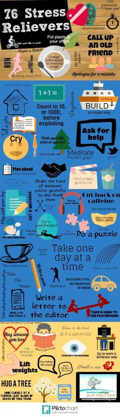 76 Stress Relievers - #Life #Stress