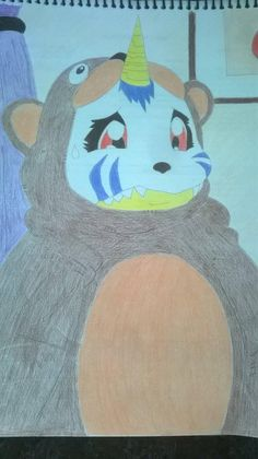 Desenho - Gabumon de urso by Rbitencourte