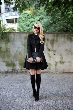 Jacket: Alice + Olivia c/o (also love this one). Top: ALC (old, similar). Bow: ASOS. Knee Highs:...