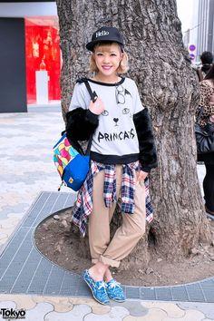 Japanese Model Recchi in Harajuku
