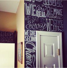 Chalkboard wall - Pared de pizarra