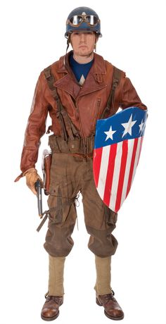 Captain America hero suit from POW rescue from Captain America The First Avenger